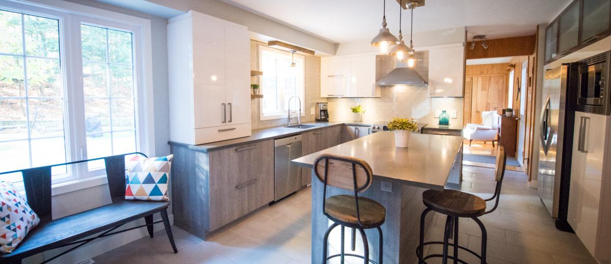 Projet de rénovation de cuisine moderne ou contemporaine   Cuisine Beaujoly   Designer cuisiniste à Sainte-Thérèse