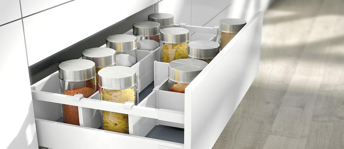 système de tiroir coulissant   Cuisine Beaujoly   Designer cuisiniste à Sainte-Thérèse