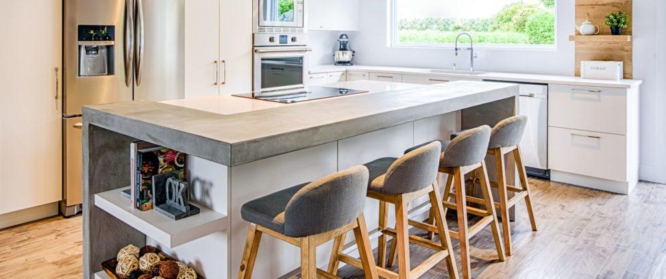 Projet de rénovation de cuisine moderne ou contemporaine | Cuisine Beaujoly | Designer cuisiniste à Sainte-Thérèse, fabriquant d'armoires